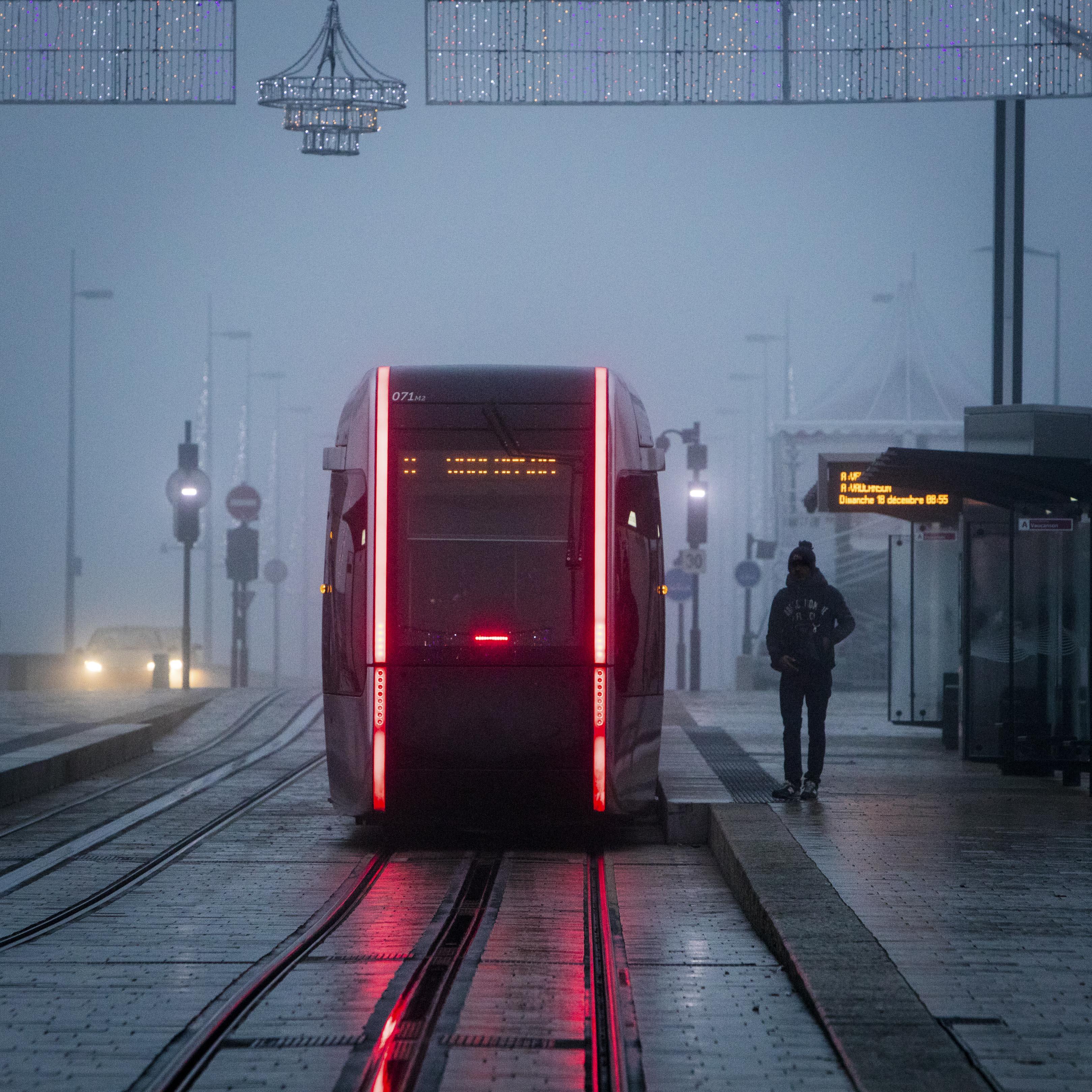 Place Anatole France, tramway - Décembre 2016