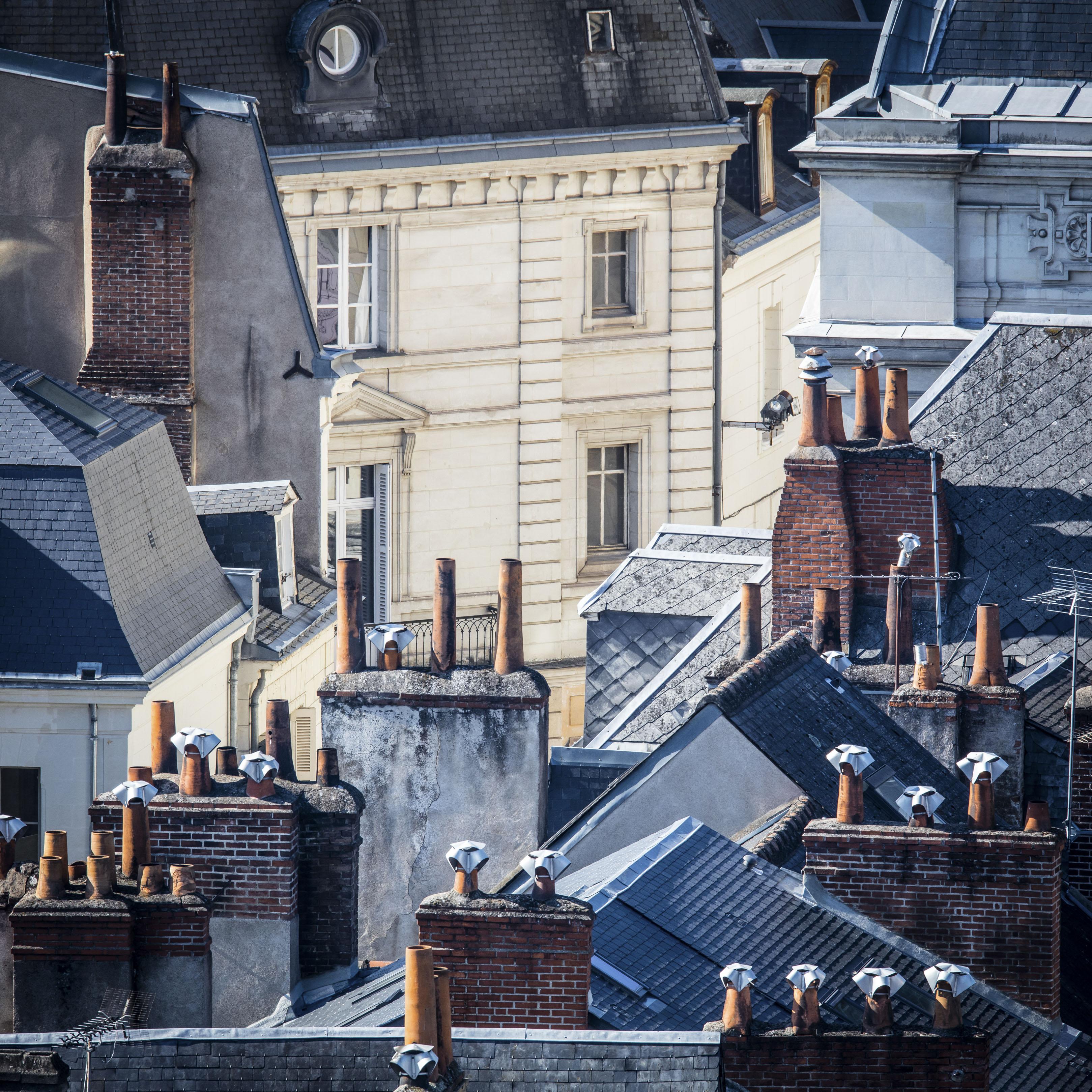 Tours, toits à l'angle de la rue Corneille - Octobre 2016