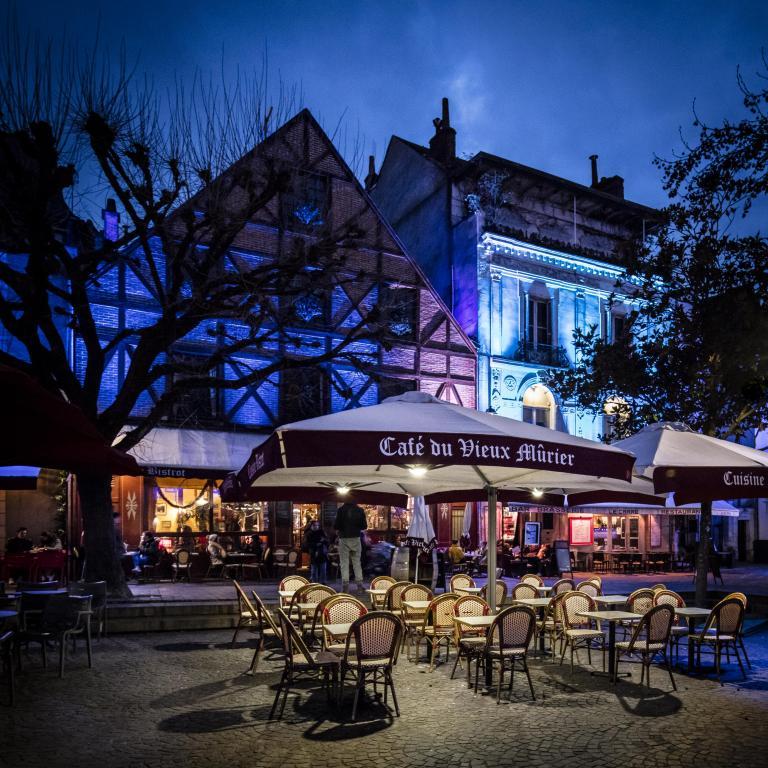 Le vieux Murier, place Plumerau - Janvier 2019