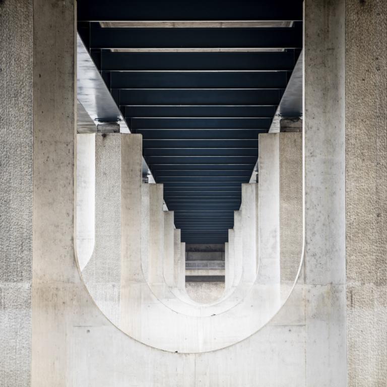 Pont du périphérique, entre Tours et Saint Cyr sur Loire - Avril 2017