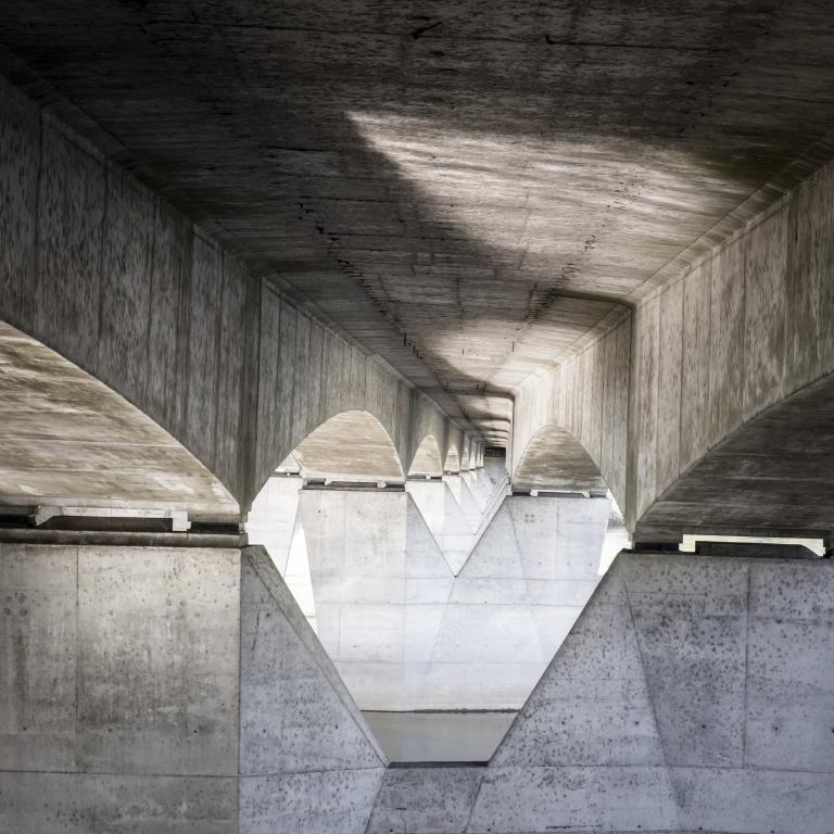 Pont de l'autoroute A10 entre Tours et Saint Pierre des Corps - Mai 2016