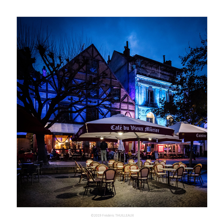 Café le vieux Murier, place Plumereau - Janvier 2019