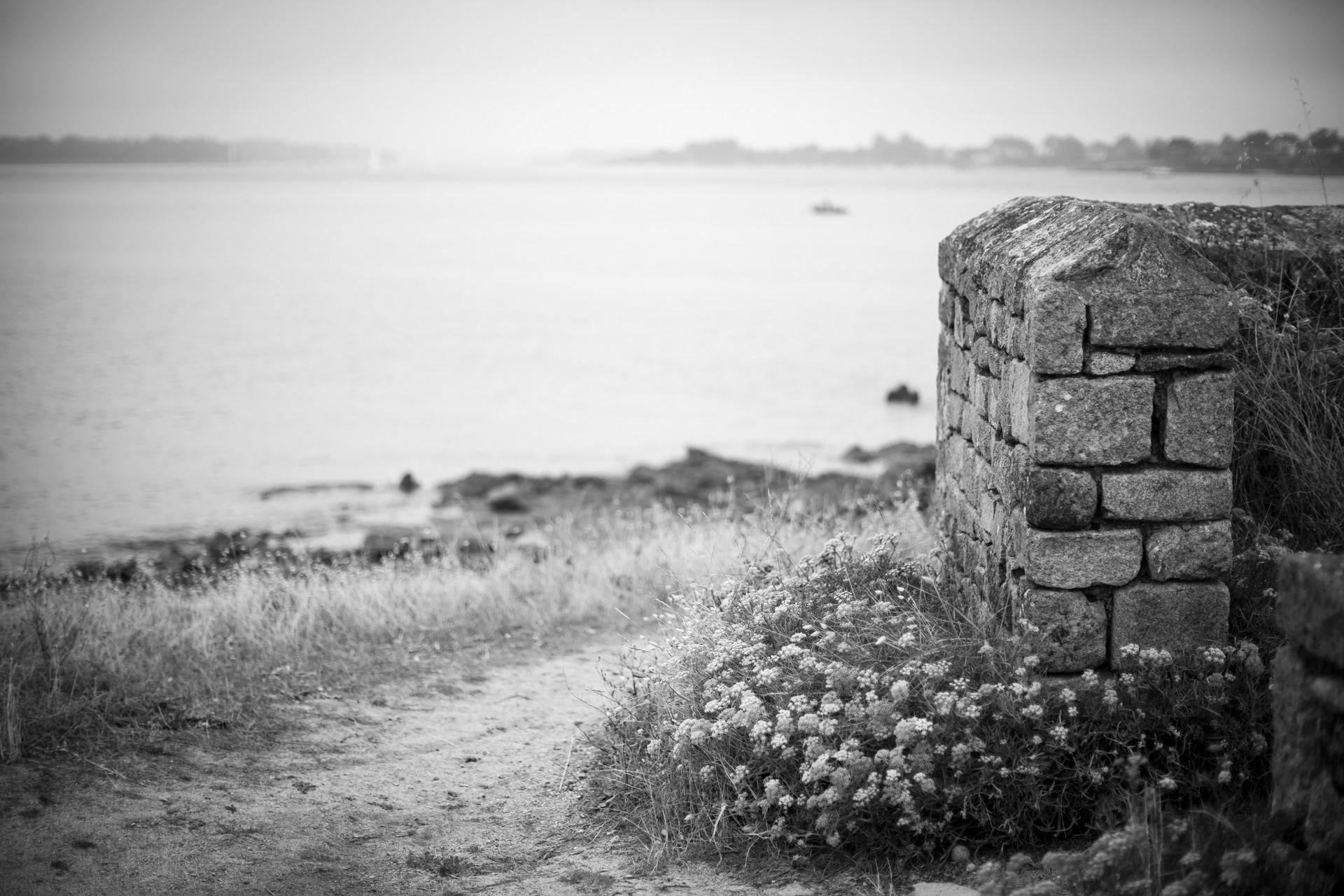 Chemin et muret - Morbihan - Août 2020